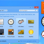 Desktop gadgets and sidebar for Windows 8.1