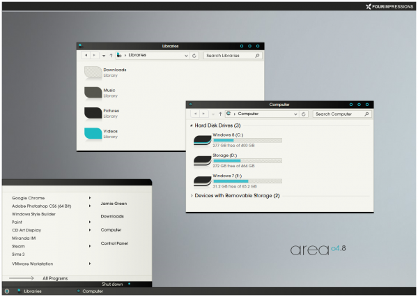 areao4.8 theme for Windows 8