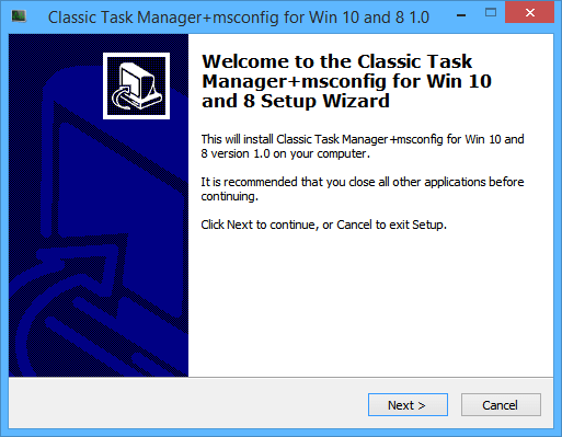 Classic Taskmgr Installer 1