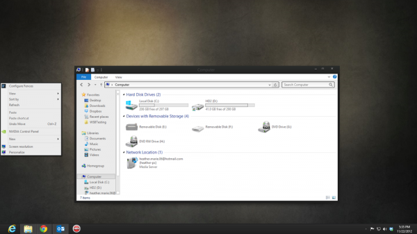 charcoal visual style theme for Windows 8