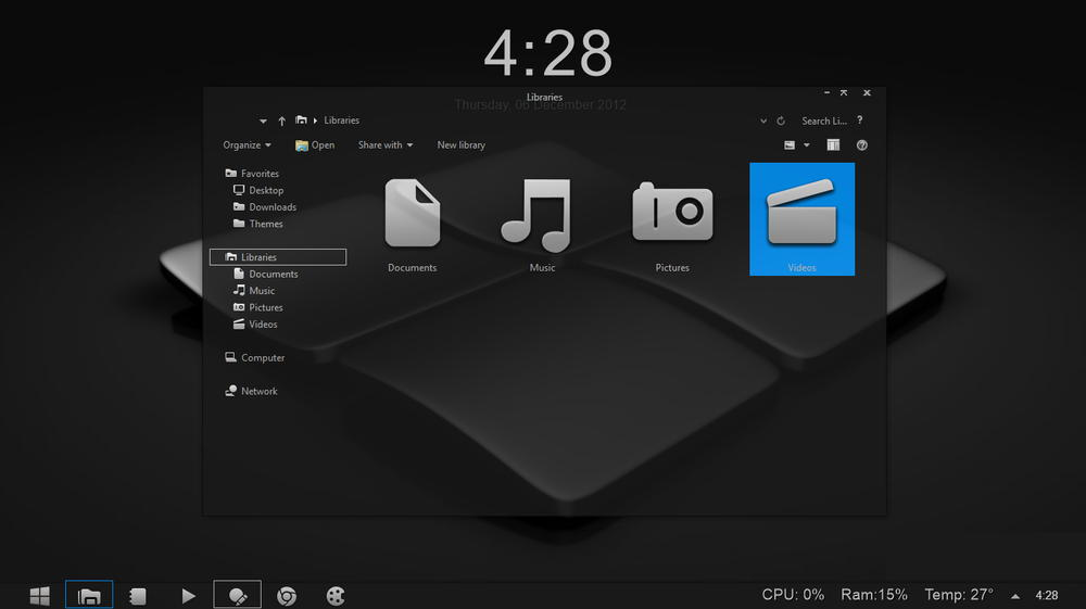 Gray8 theme visual style for Windows 8