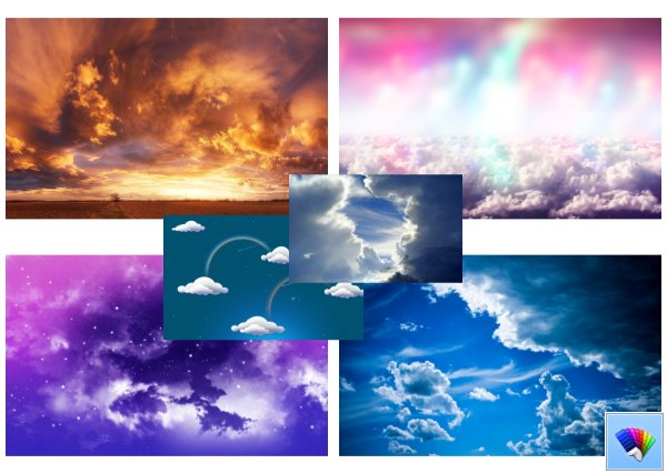 Over the Clouds theme for Windows 8