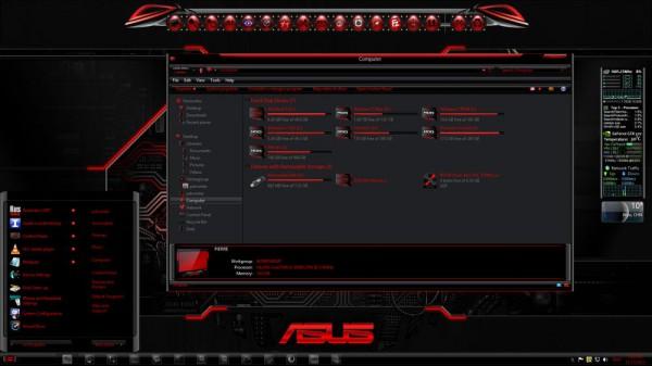 windows 8 theme razerred8 gold