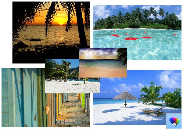 Hidden Paradise theme for Windows 8