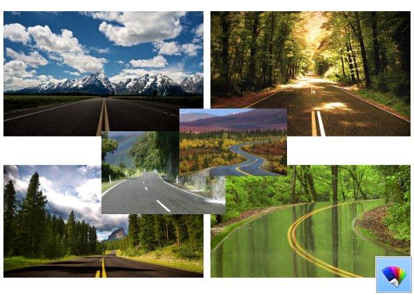 Highways theme for Windows 8