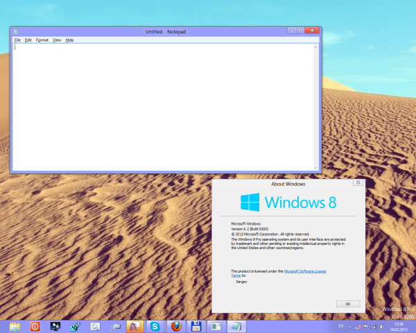 Windows 8 Release Preview theme for Windows 8 RTM
