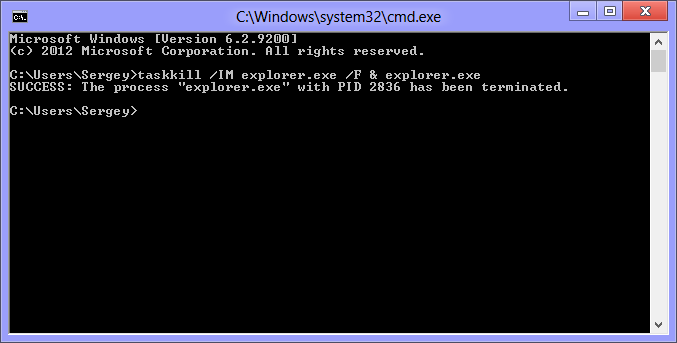 Exe in batch file commands keep window open