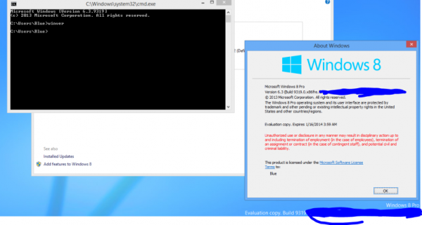 Windows 9 Blue NT kernel 6.3