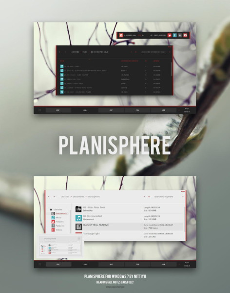 Planisphere theme for Windows 7