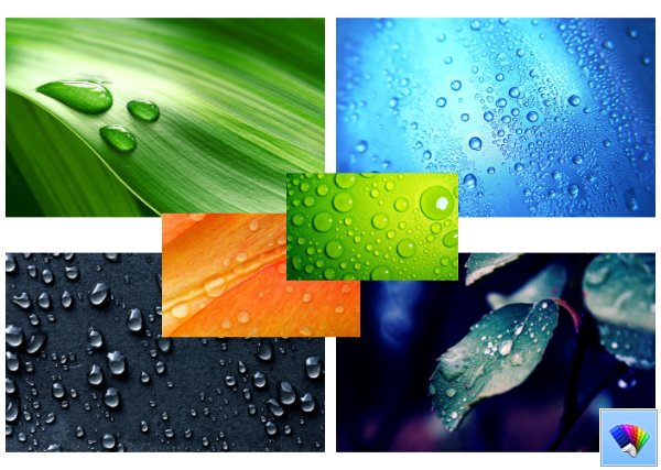 Droplets theme for Windows 8