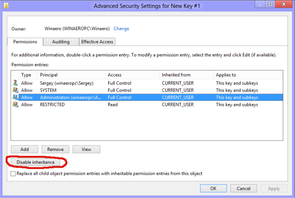 Copy Permissions in Windows 8