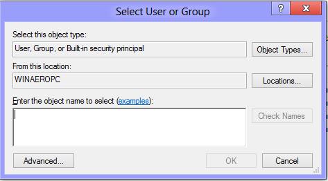 Select User in Windows 8