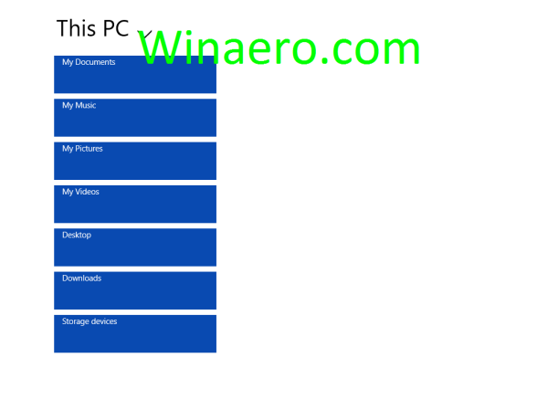 Windows Blue File Manager