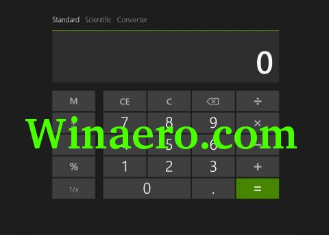 Windows Blue calc