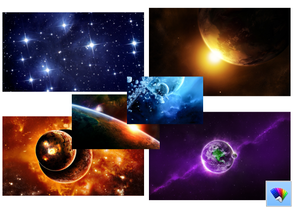 Far Galaxies theme for Windows 8