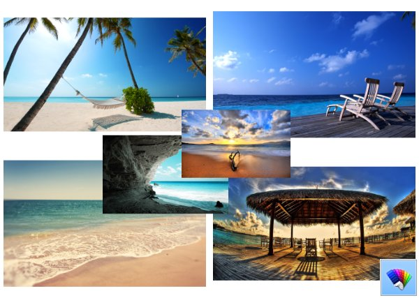 My vacation theme for Windows 8