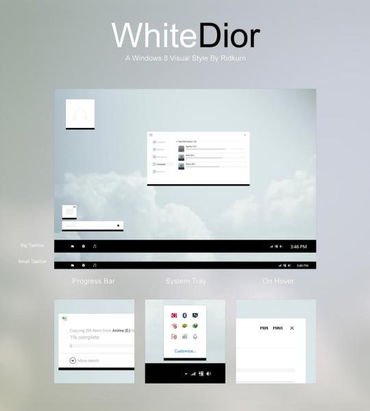 WhiteDior Visual Style for Windows 8