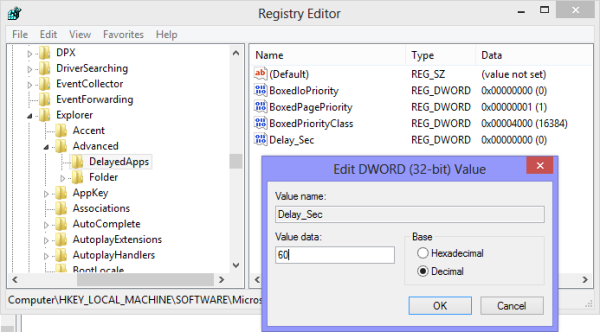 delay_sec in registry