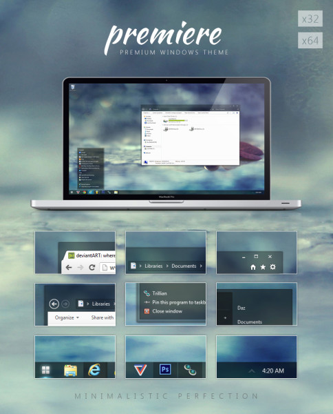 Premiere theme for Windows 7