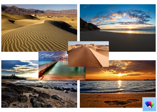 Sands and Sea theme for Windows 8