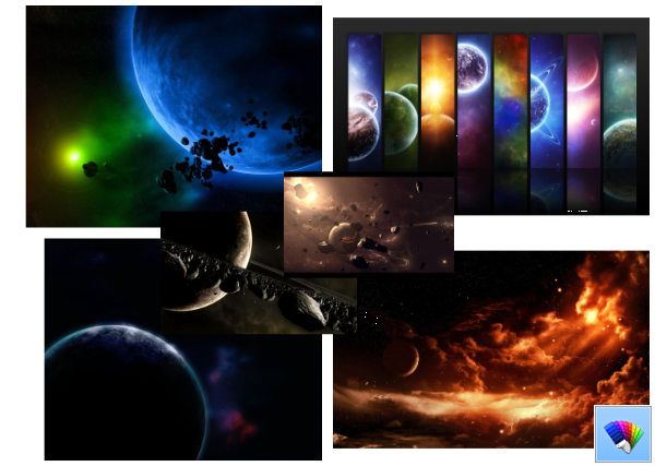 Starscapes themes for Windows 8