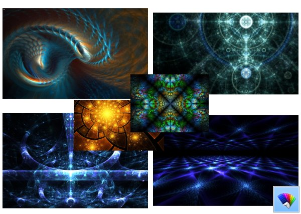 Fractals theme for Windows 8