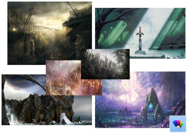 Fantasy theme for Windows 8