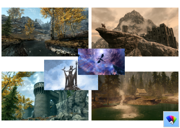 Skyrim theme for Windows 8