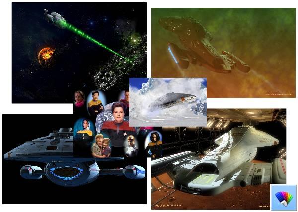Star Trek Voyager theme for Windows 8