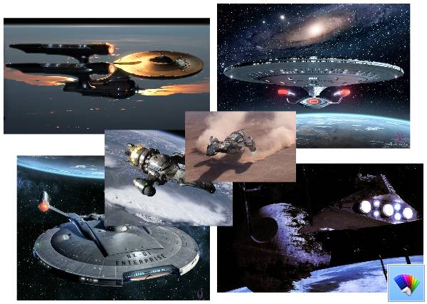 Starship theme for Windows 8