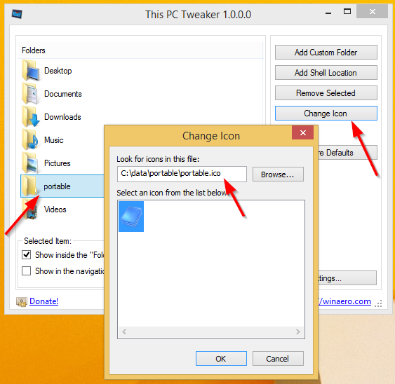how to put pictures in a folder windows 8