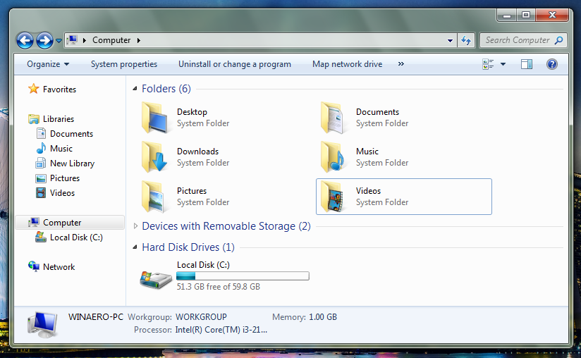 How to add folders to Computer in Windows 7 to make it ...