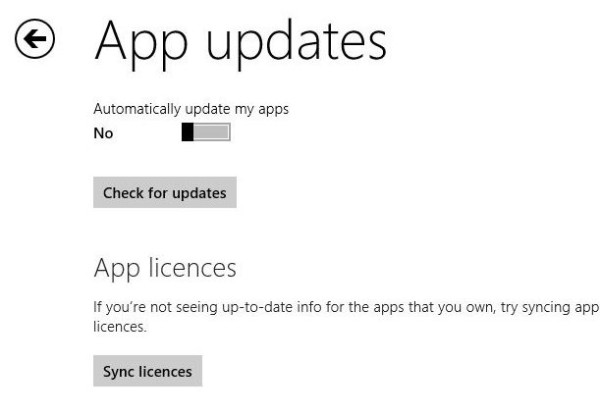 Disable automatic updates