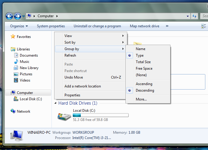 how to add password to folder windows 7