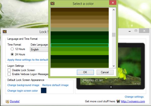 Login Screen Color