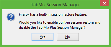 TabMix Session Manager