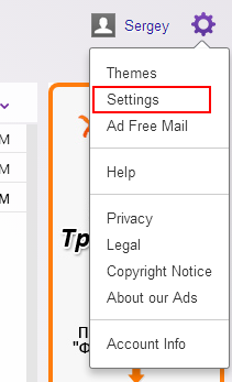 Yahoo Mail settings