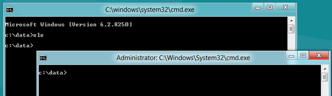 administrator cmd.exe prompt