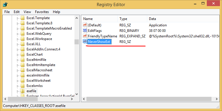 how to open key extension file in windows