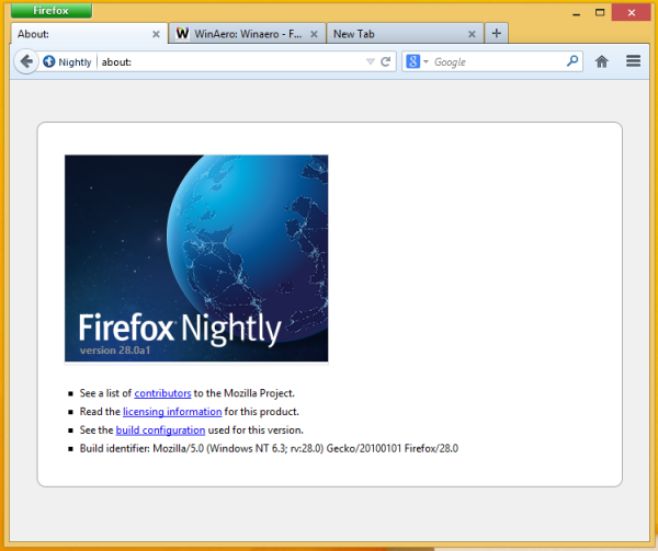 firefox nightly with classic theme