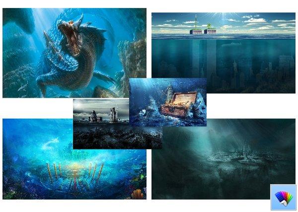 Underwater theme for Windows 8