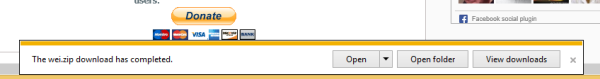 IE notification bar