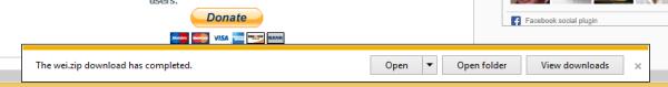 IE notification bar