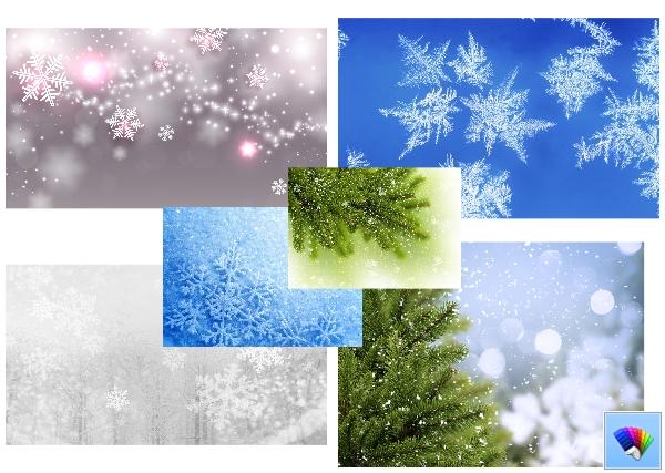 snowflakes theme for Windows 8