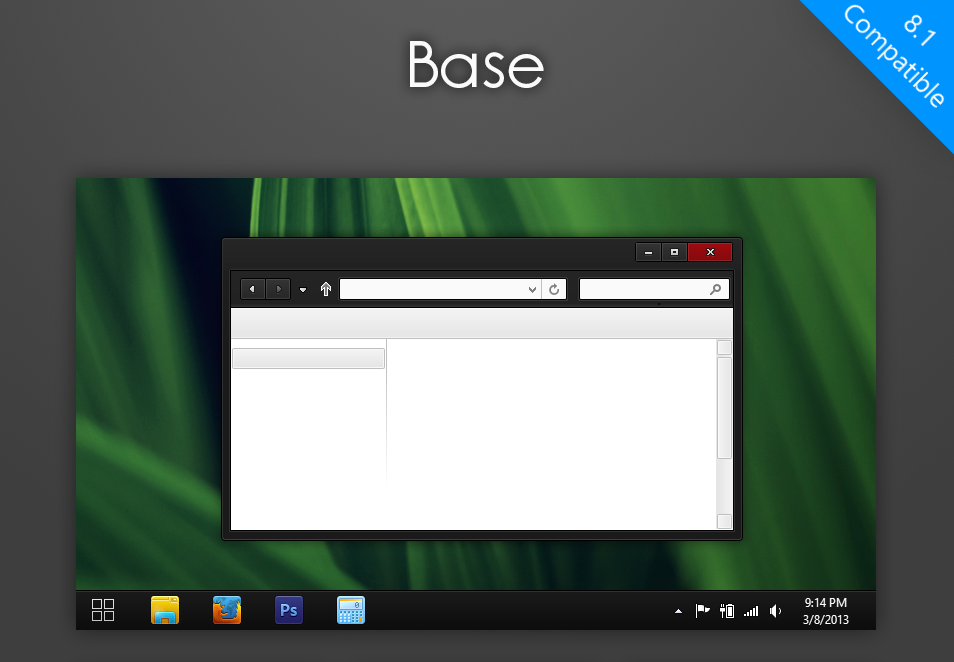 Base - black theme for Windows 8 1