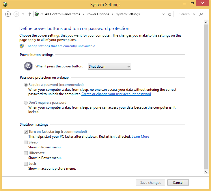 How To Disable Or Enable Fast Startup In Windows 81
