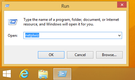 netplwiz in the run dialog