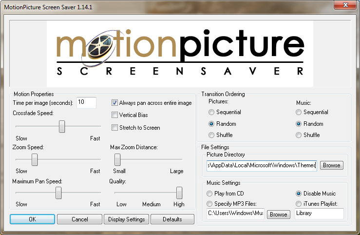 MotionPicture Screensaver
