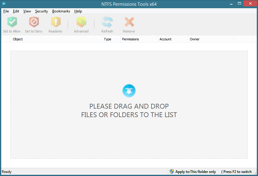 Easier way to set, copy and manage NTFS permissions (ACLs