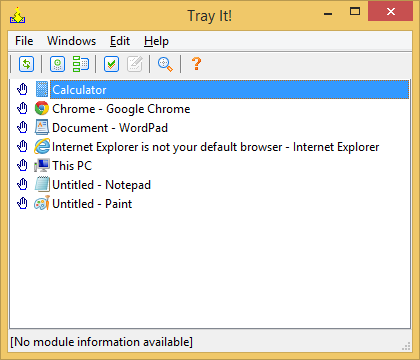 Minimize apps to system tray (notification area) with TrayIt!